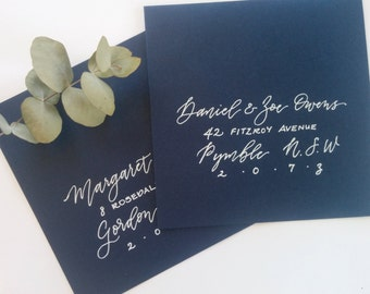 Hand written envelopes / custom calligraphy - modern script