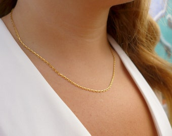 Dainty Gold Chain Necklace  | Chain Necklace | Gold Necklace | Dainty Necklace | Minamalist Necklace | Thin Necklace | Delicate Necklace |