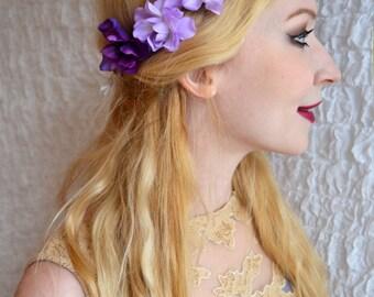 FLORENCE - flower wreath, Elf Crown, wedding, Bridal wreath, Bridal jewelry, summer, boho,