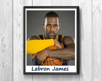 Lebron James, Lebron James posters Basketball uses, Lebron James print, wall poster,