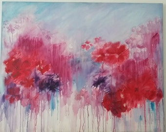 Flowers 11 .Limited edition print .Canvas or watercolour