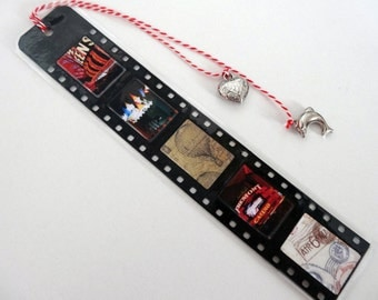 Bookmark 3 / bookmarks 3 / photos and paper scrapbooking / pictures and pattern paper / film strip