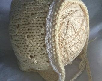Bamboo Silk Baby Bonnet