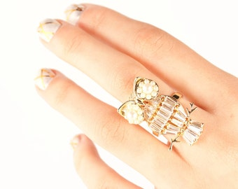 Owl Shaped Gold Ring