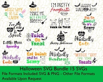 Halloween SVG Bundle SVG and PNG files for Cutting Machines Silhouette Cameo or Cricut Halloween svg Fall svg Halloween Shirt