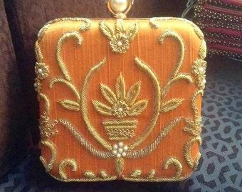 Vintage Handmade Box Clucth