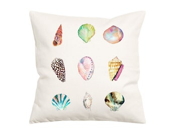My Shell Collection-Throw Pillow- Decorative Pillow-Throw Pillow Cover