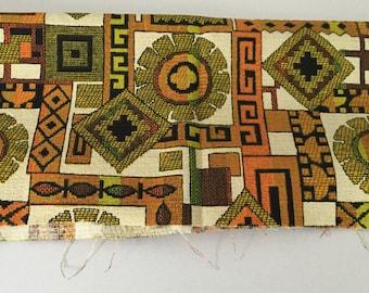 House N Home Fabrics & Draperies Barkcloth Fabric Geometric Design