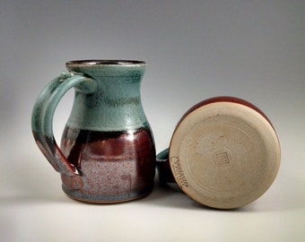 One Verdant and Rust Red Mug