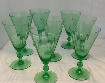 H.C.Fry Glass Co. Glasses Set of 8