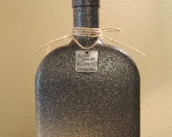 Stunning Painted Liquor Bottle.