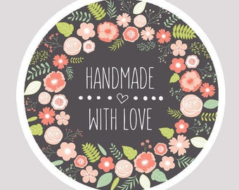 50 stickers handmade, handmade stickers