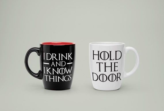 """Game of Thrones Decals I Drink & I Know Things  4""""-9"""""""