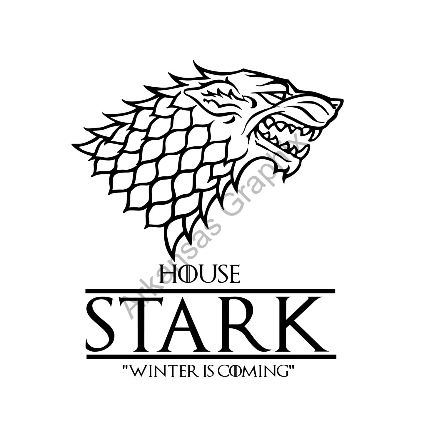 Game of Thrones House Stark Vector/Cuttable Files Eps, AI ...