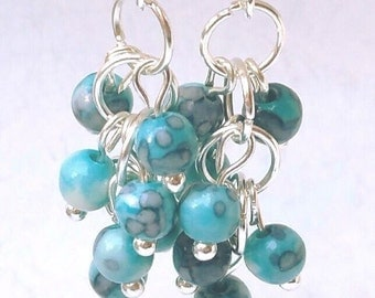 925 Silver earrings with turquoise, Handmade earrings, 925 Silver earrings with turquoise