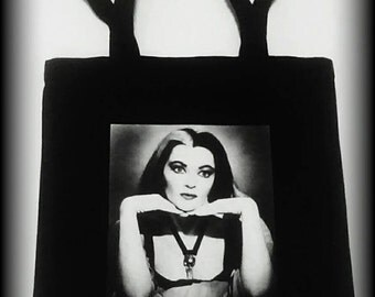 Lily Munster tote bag, Lily Munster purse, The Munsters, The Munsters purse, Horror Tote, Horror Purse, Horror Clothing, Horror Bag