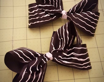 Nightmare Before Christmas Inspired Boutique Hair Bow