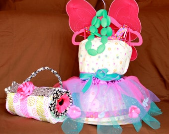 Dress and/or Purse Diaper Cake