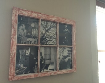 Restored window picture frame