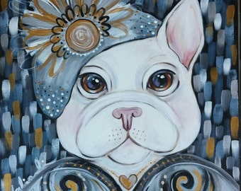 Ava French Bulldog Painting