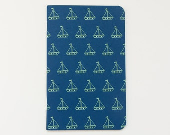 Notebook // SAILBOATS blue + yellow