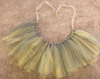 Gold and Grey Tutu & Bow
