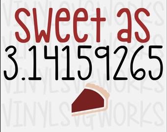 Sweet as 3.14 SVG FILE