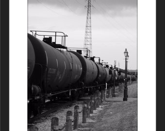 New Orleans, Street Photography, Black and White, Trains