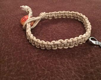 "7"" Hemp Hope Bracelet"