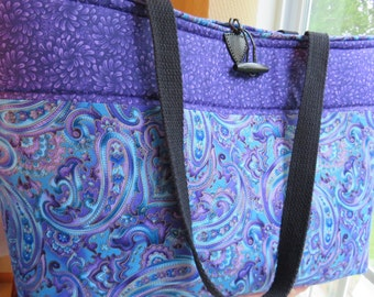 Large Tote Bag | Travel Bag | Diaper Bag | Weekend Bag | Handbag | Rocking Chair Quilting