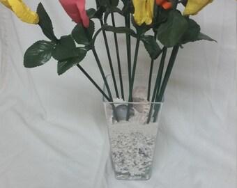 Seashell rose bouquet