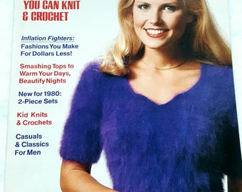 January/February 1980 Woman's Day 101 Sweaters to Knit and Crochet in New Condition!
