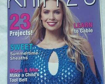 Summer 2014 Knit 1 2 3 Knitting Pattern Magazine