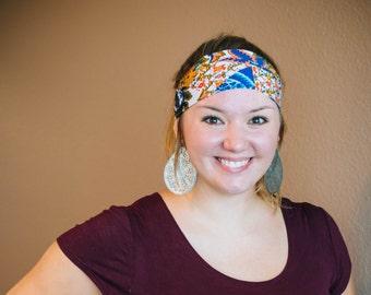 Paisley Yoga//Athletic//Turban Headband
