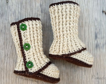 Crochet Booties Pattern, Baby Booties, Crochet, Pattern