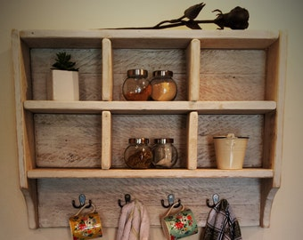 Reclaimed Timber Cubby Shelf- Pigeon hole shelf - Display Shelf- Farm house - Kitchen shelf -Bathroom shelf- Bedroom shelf-Mug Rack