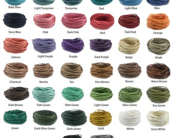 Faux Suede Cord 3mm x 1.5mm Leather 10-Yards Cord Bracelet Necklace Making