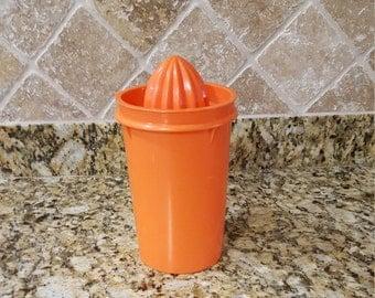 Tupperware , Orange , Juicer , Vintage Tupperware , FREE SHIPPING , Orange Tupperware , Vintage Juicer , Vintage kitchen , Retro Kitchen