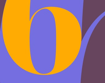 No. 6 Numerical Poster