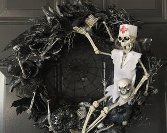 Nurse Halloween Wreath