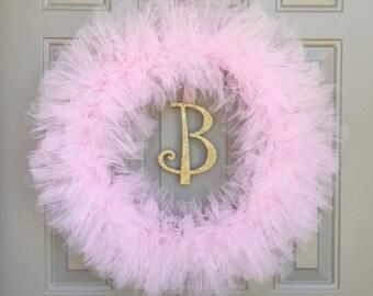 Ballet Pink Tutu Wreath