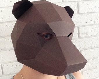 Grizzly Bear Geometric Mask