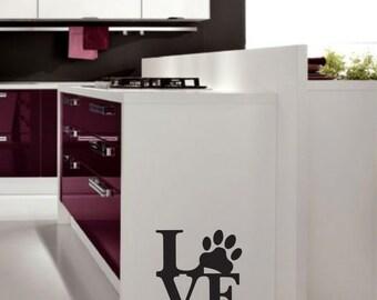 Dog love - Vinyl Decal Sticker - Kitchen decal - Dog sticker - Dog love sticker