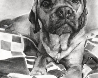 "18""x 24"" Custom Drawing: Dog or Other Animal"