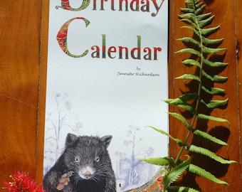 The Australian Birthday Calendar by Jennifer Richardson