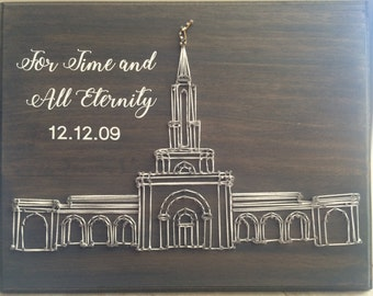 Custom LDS Temple String Art With Vinyl Personalization, Temple Wedding Gift, Anniversary Gift