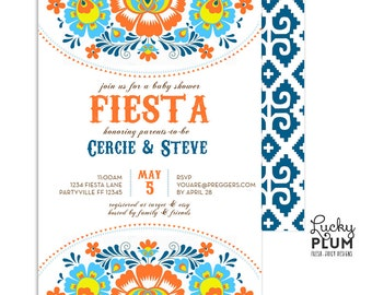Fiesta Baby Shower Invitation / Couples Baby Shower Invite / Mexican Baby Shower Invitation / Coed Baby Shower Invitation / Fiesta Invite