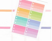8 heart checklist stickers, ombre, half box, tasks, chores, to do, list, functional planner stickers, halfbox, listers, top 3, CHK2