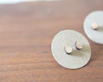 Wood Rain Drop Earring | Wood Water Drop Earrings | Drop Earrings | Wood Earring Stud | Rustic Wedding Earrings |Hypoallergenic Earring Stud