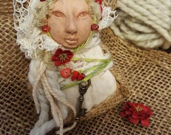 ARTIST SALE, Spice Art Doll, Thanksgiving Table Decor ,Ethnic Art, ooak Art Doll, Kitchen Decor, collectible keepsake, kitchen witch,